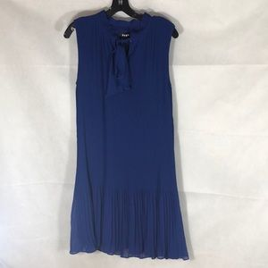 NWT = DKNY, Size14 , Midi dress , dark blue .